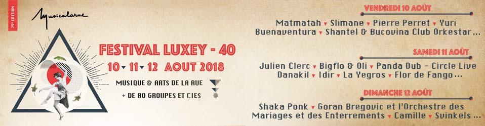 Le 10, 11 et 12 Aout 2018 : Festival Musicalarue 2018