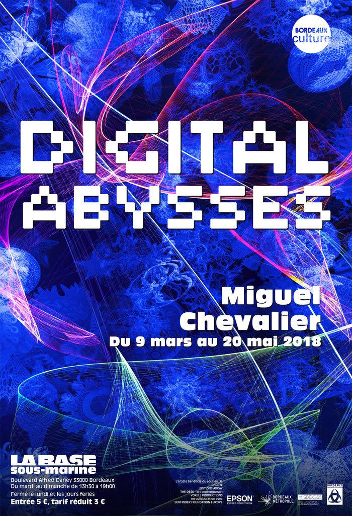 Vernissage le 8 mars 2018, 18h30/Exposition du 9 mars au 20 mai 2018 : Digital Abysses 2018 – Miguel Chevalier